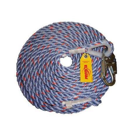 Protecta Rope Lifeline with Snap Hook 25 ft. (7.6 m) - Barry Cordage