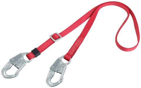 PRO™ Adjustable Web Positioning Lanyard 6 ft. (1.8m) (1385301C) - Barry Cordage