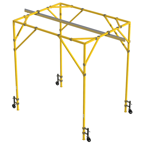 FlexiGuard™ Adjustable Height Box Frame System with 12-18 ft. (3.7-5.5m) height range, 12 ft. (3.7m) width