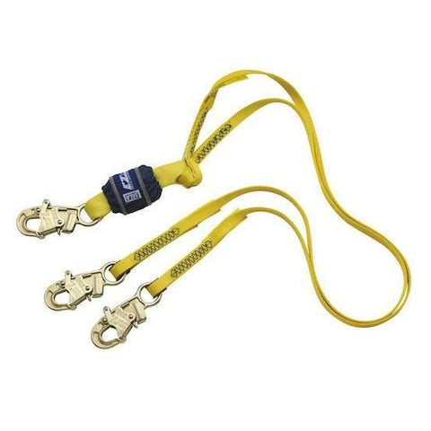 EZ-Stop™ 100% Tie-Off Shock Absorbing Lanyard - E6 snap hooks at each end 6 ft. (1.8m)