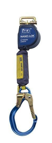 Nano-Lok™ Extended Length Self Retracting Lifeline with Anchor Hook - Web 9 ft. (2.74m) aluminum locking rebar hook