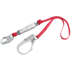 PRO™ Pack Shock Absorbing Lanyard - E4 snap hook at one end 6 ft. (1.8m) (1340125C) - Barry Cordage
