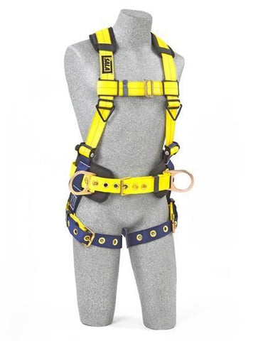 Delta™ Construction Style Positioning Harness tongue buckle leg straps (size Large) - Barry Cordage