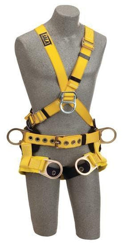 Delta™ Cross-Over Style Tower Climbing Harness With Tongue Buckle Leg Straps - Barry Cordage