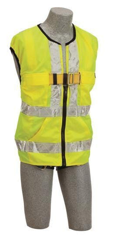 Delta Vest™ Hi-Vis Reflective Workvest Harness - Yellow (size X-large) - Barry Cordage