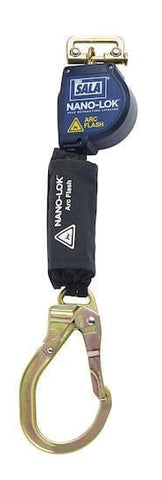 Nano-Lok™ Arc Flash Quick Connect Self Retracting Lifeline - Steel Rebar Lock Hook/Quick Connector for Harness Mounting