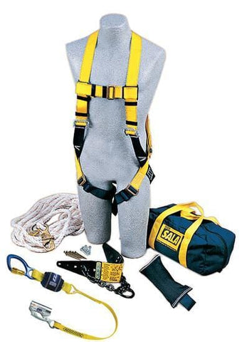 Roofer's Fall Protection Kit - Heavy-Duty Anchor