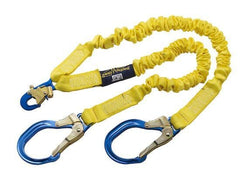 ShockWave™2 100% Tie-Off Shock Absorbing Lanyard - E4 Class aluminum rebar hooks at leg ends 6 ft. (1.8m) - Barry Cordage