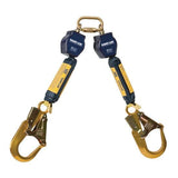 Nano-Lok™ Twin-Leg Quick Connect Fixed D-ring Self Retracting Lifeline - Web - 2X Aluminum Rebar Hook