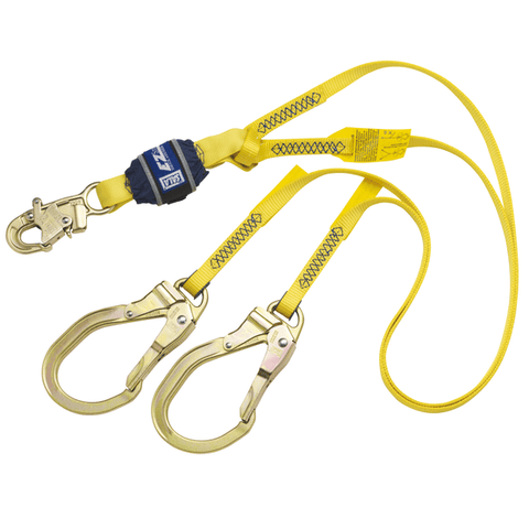 EZ-Stop™ 100% Tie-Off Shock Absorbing Lanyard - E4 snap hook at center 4 ft. (1.2m)
