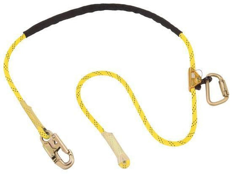 Pole Climber's Adjustable Rope Positioning Lanyard - Hook/Caribiner