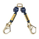 Nano-Lok™ Twin-Leg Quick Connect Fixed D-ring Self Retracting Lifeline - Web - 2X Steel Rebar Hook