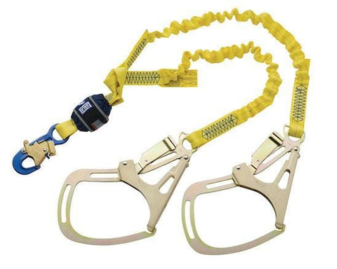 EZ-Stop™ 100% Tie-Off Shock Absorbing Lanyard - E4 snap hook at center 6 ft. (1.8m)