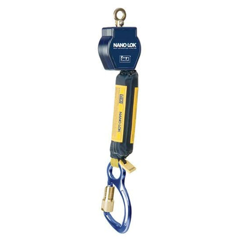 Nano-Lok™ Self Retracting Lifeline - Web - Swiveling Loop/Aluminum Carabiner - Barry Cordage
