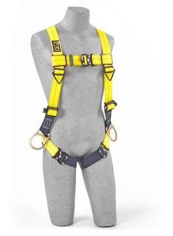 Delta™ Vest-Style Positioning Harness quick connect buckle leg straps (size X-Large) - Barry Cordage