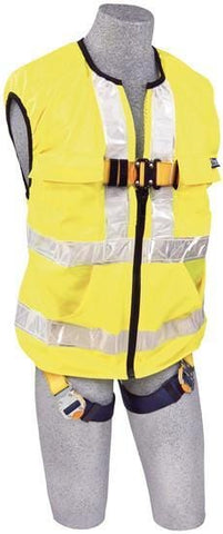 Delta Vest™ Hi-Vis Reflective Workvest Harness (size X-Large) - Barry Cordage