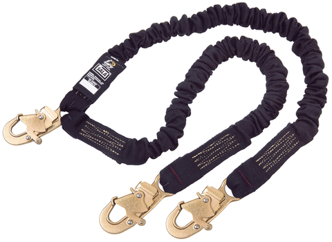 ShockWave™2 Arc Flash 100% Tie-Off Shock Absorbing Lanyard - E4 Class snap hooks at each end 6 ft. (1.8m) - Barry Cordage