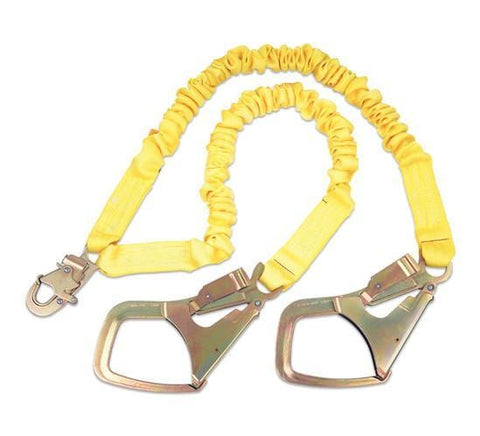 ShockWave™2 100% Tie-Off Shock Absorbing Lanyard - E4 Class Saflok-Max™ steel rebar hooks at leg ends 6 ft. (1.8m)