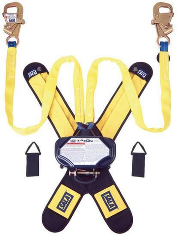 Talon™ Twin-Leg Tie-Back Quick Connect Self Retracting Lifeline - Web 7.5 ft. (2.3m) tie-back hooks