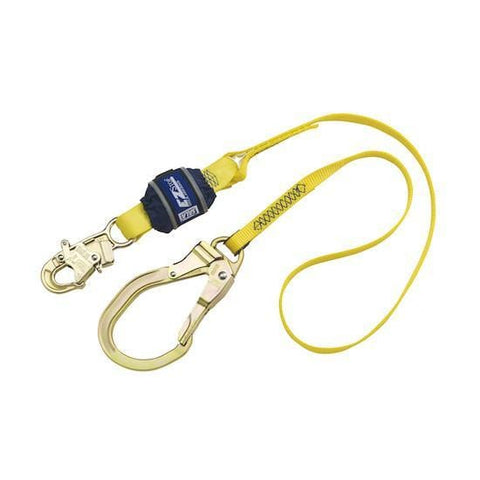 EZ-Stop™ Shock Absorbing Lanyard - E4 snap hook at one end 6 ft. (1.8m)