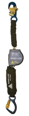 Nano-Lok™ Arc Flash Self Retracting Lifeline with Anchor Hook 8 ft. (2.4m) - aluminum carabiner - Barry Cordage