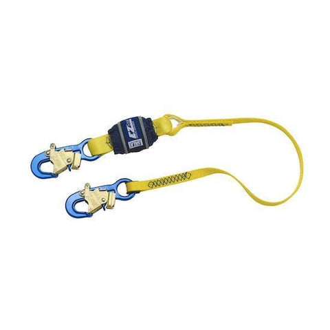 EZ-Stop™ Shock Absorbing Lanyard - E6 snap hooks at each end 4 ft. (1.2m)