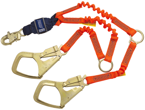 Force2™ Hi-Vis Elastic 100% Tie-Off Shock Absorbing Lanyard