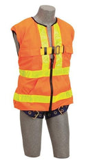 Delta Vest™ Hi-Vis Reflective Workvest Harness - Orange (size X-large) - Barry Cordage
