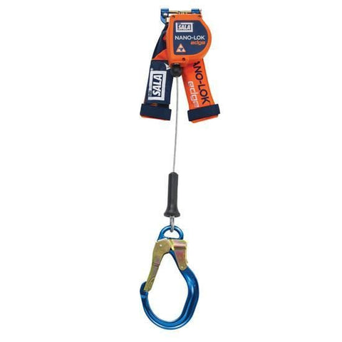 Nano-Lok™ Edge Quick Connect Self Retracting Lifeline 8 ft. (2.4m) - Galvanized cable with aluminum rebar locking hook