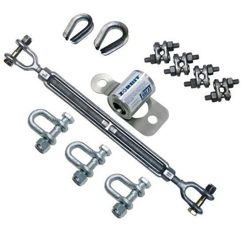 Zorbit™ Energy Absorber Kit (shackles, fasteners, turnbuckle tensioner, thimbles and cable clips)