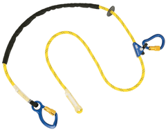 Pole Climber's Adjustable Rope Positioning Lanyard - Carabiner/Carabiner (Aluminum) - Barry Cordage