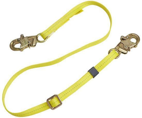 Web Adjustable Positioning Lanyard 6 ft. (1.8m) snap hooks - Barry Cordage