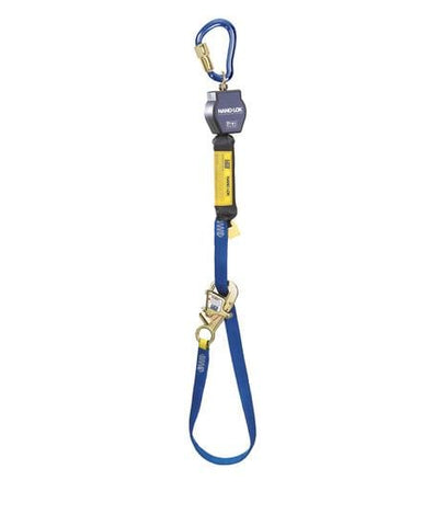 Nano-Lok™ Tie-Back Self Retracting Lifeline - Web - Aluminum Carabiner