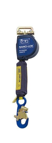 Nano-Lok™ Extended Length Quick Connect Self Retracting Lifeline - Web 10 ft. (3m) aluminum snap hook