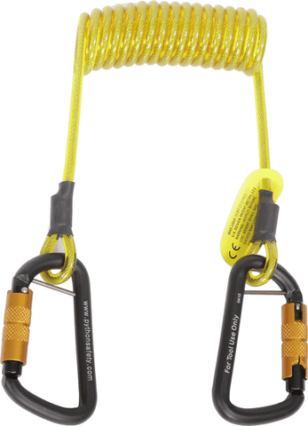 Python Safety™ Hook2Hook Coil Tether - Barry Cordage