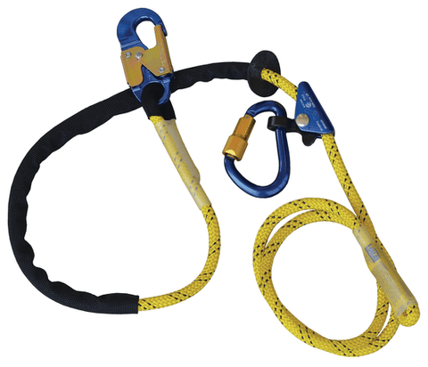 Pole Climber's Adjustable Rope Positioning Lanyard