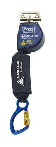 Nano-Lok™ Arc Flash Quick Connect Self Retracting Lifeline - Captive Eye Carabiner - Barry Cordage
