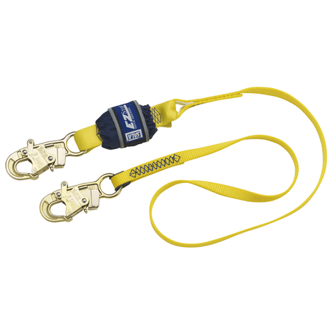 EZ-Stop™ Shock Absorbing Lanyard - E4 snap hooks at each end