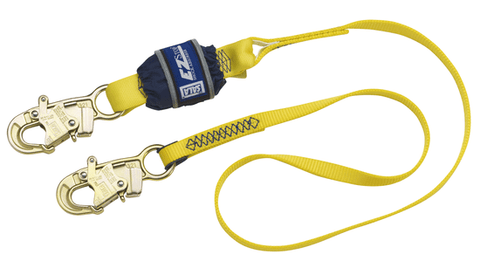 EZ-Stop™ Shock Absorbing Lanyard - E4 snap hooks at each end 6 ft. (1.8m)