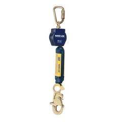 Nano-Lok™ Self Retracting Lifeline with Anchor Hook - Web - Swiveling Carabiner/Swiveling Snap Hook - Barry Cordage