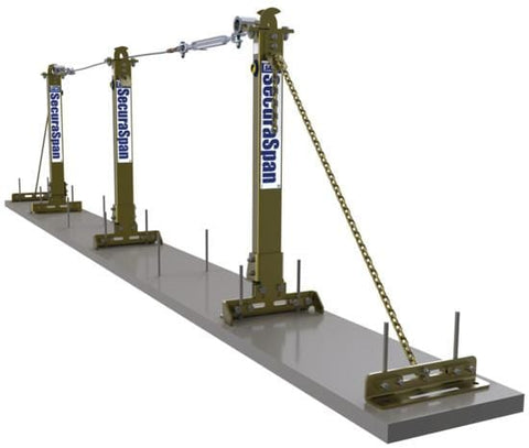 SecuraSpan™ Rebar/Shear Stud Horizontal Lifeline System 50 ft. (15.2m) - Barry Cordage