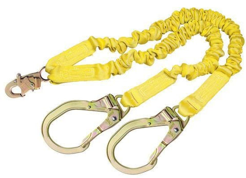 ShockWave™2 100% Tie-Off Shock Absorbing Lanyard - E4 Class  steel rebar hooks at leg ends 6 ft. (1.8m)
