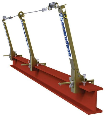 SecuraSpan™ I-Beam Horizontal Lifeline System 20 ft. (6.1m) - Barry Cordage