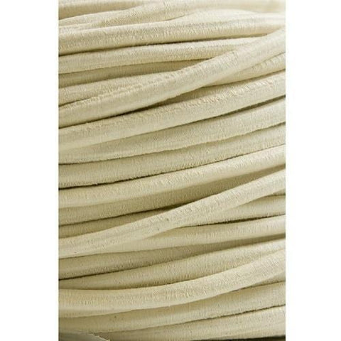 Cotton-Covered Elastic Rope 10mm X 100m Natural - Barry Cordage