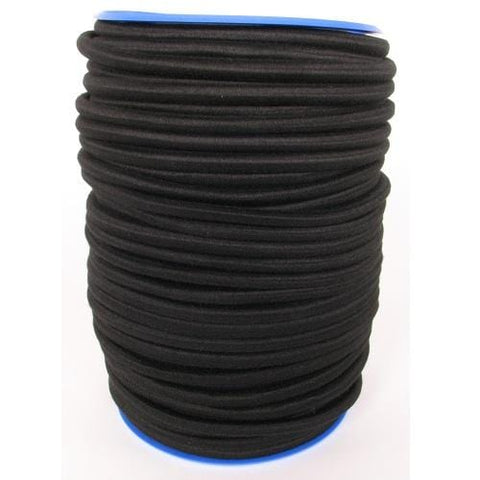 Polyester-Covered Elastic Rope 10mm X 100m Black