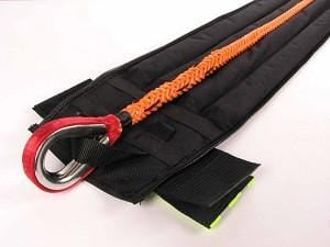 Zippered weighted end-cover (with removable weight strips)