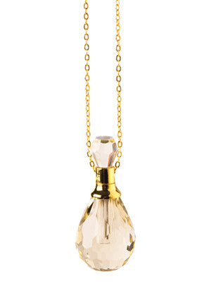 Champagne crystal necklace at Indigo Perfumery