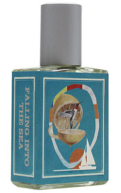 Falling Into the Sea sample Indigo Perfumery has niche and natural perfumes and artistic fragrances, and concierge service. www.indigoperfumery.com.