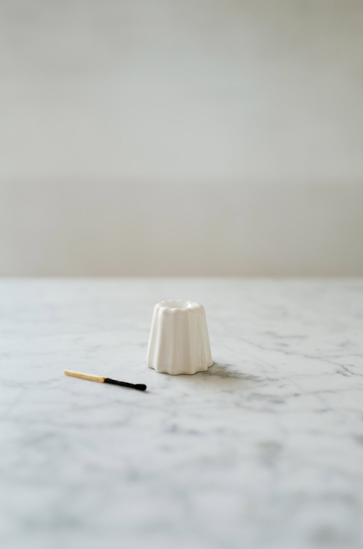Porcelain Canele Candle Holder