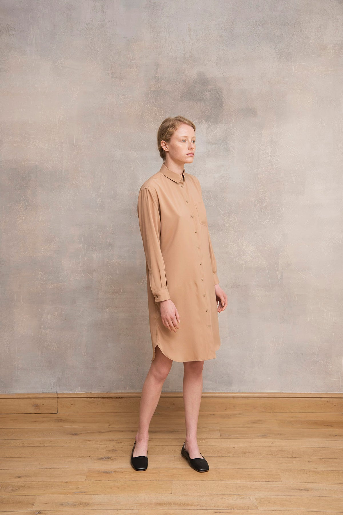 Silk Shirt Dress